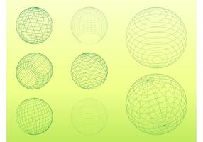 3D Wireframe Spheres