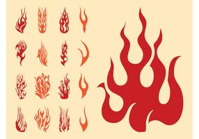 Flame Silhouettes Set