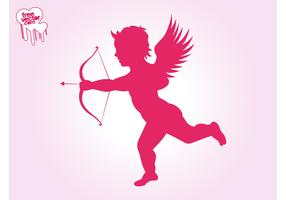 Flying Cupid Silhouette