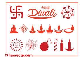 Diwali Graphics Set