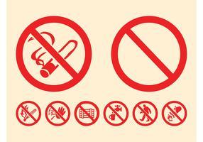 Prohibition Signs Graphics