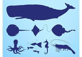 Sea Creatures Silhouettes