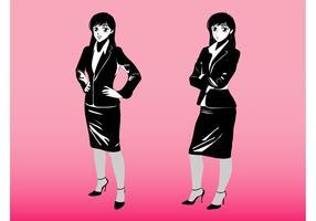 Cartoon Businesswomen