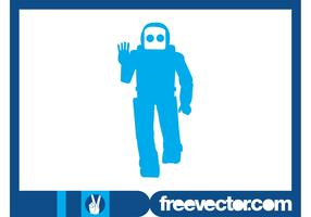 Friendly Robot Silhouette