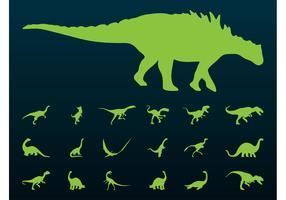 Dinosaurs Silhouettes Set