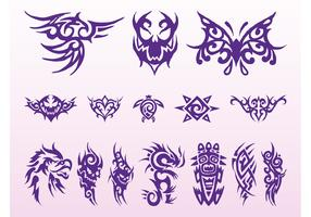 Tribal Tattoos Graphics Set