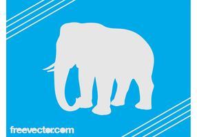 Vector Elephant Silhouette