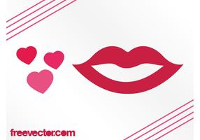 Hearts And Lips Graphics
