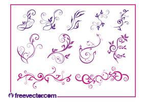 Beautiful Flower Swirls
