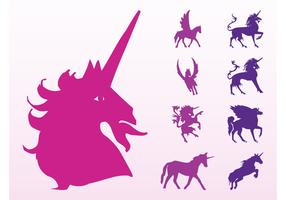 Unicorns And Horses Silhouettes