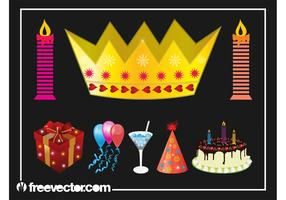 Birthday Party Graphics Set