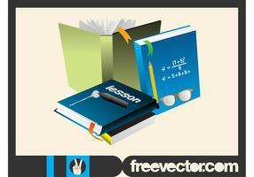 School Books Layout