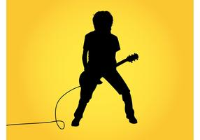 Guitar Player Silhouette Graphics