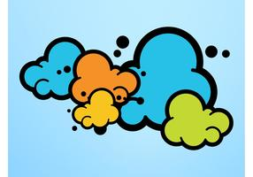 Colorful Cartoon Clouds