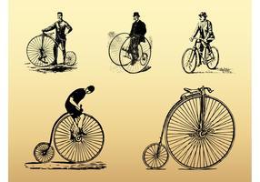 Vintage Bikes Set