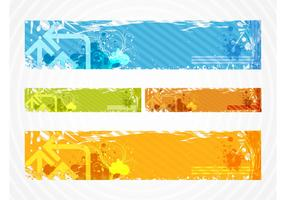 Colorful Grunge Banners