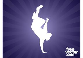 Breakdancer Silhouette