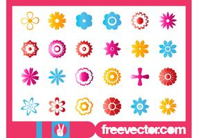 Flower Blossoms Icon Set