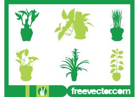 House Plants Silhouettes