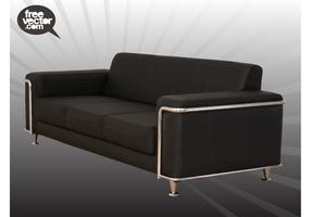 Black Couch Vector