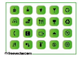 Green Icons Graphics Set