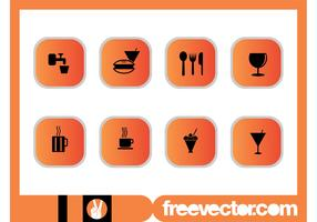 Foods And Drinks Icons Set