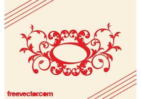 Retro Floral Scroll