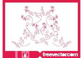 Decorative Floral Scrolls Vector