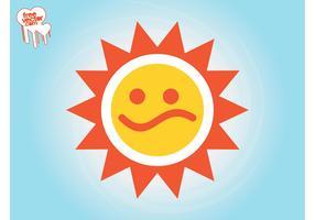 Sad Sun Icon