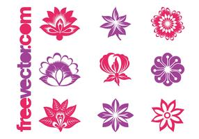 Blooming Flowers Graphics Set