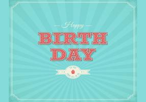 Retro Happy Birthday Typographical Background Vector