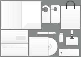Blank Stationary Template Vector