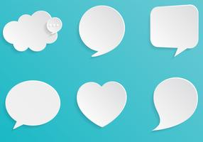 3D Speech Bubbles Vector Set