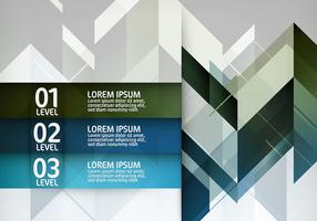 Geometric Infographic Vector Background