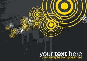Modern Yellow and Gray Target Vector Background