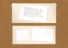 Old Vintage Paper Banners Vector Set
