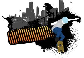 Skateboarding Vector Background