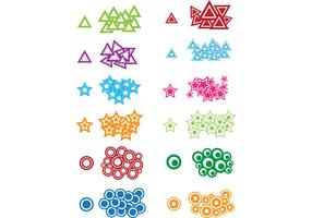 Circles, Triangles and Stars – Free Vectors