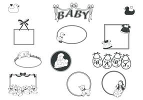 Retro Baby Frames Vector Pack