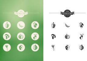Vegetables and Fruits Vector Set