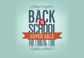 Retro Back to School Vector
