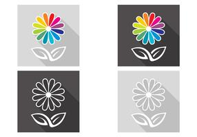 Abstract Flower Vector Set