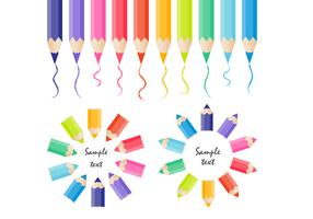 Colored Pencils Vector Collection