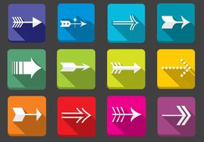 Flat Arrow Icons Vector Set
