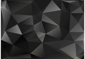 Black Polygon Vector Background