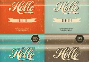 Vintage Hello Background Vector Pack