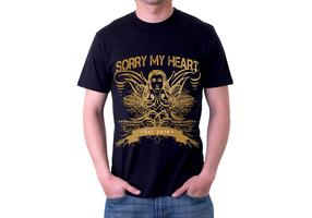 Sorry My Heart Grunge Tshirt Vector Design