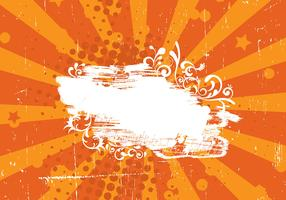 Grunge Orange Sunburst Vector Background