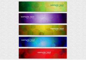 Abstract Circle Banner Vector Set