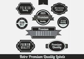 Black Retro Premium Label Vectors